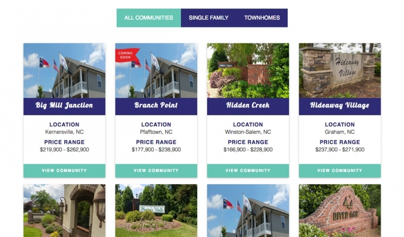 hugart Homes Website Design
