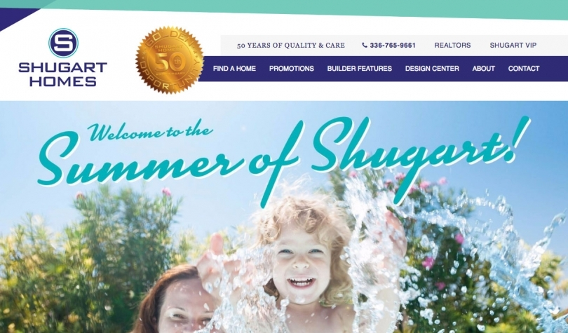 Shugart Homes Website Design